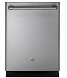"CDT835SSJSS 24"" GE Cafe Series Built-In Dishwasher with Stainless Steel Interior and Hidden Controls - Stainless Steel"