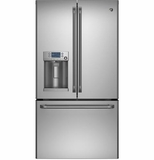CFE28TSHSS GE Cafe Series Energy Star 27.8 Cu. Ft. French-Door Ice & Water Refrigerator
