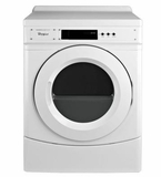 "CGD9060AW 27"" Whirlpool Commercial Gas Dryer with 6.7 cu. ft. Capacity and Front Push Button Controls"