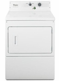 "CGM2793BQ 27"" Whirlpool Large Capacity Non-Metered Commercial Gas Dryer with 7.4 cu.ft Capacity and Ergonomic Control Knobs - White"