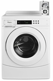 "CHW9050AW 27"" Whirlpool High-Efficiency Front-Load Commercial Washer with Factory-Installed Coin Slde and Coin Box - White"