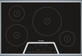 CIT304KB Thermador 30 Inch Masterpiece Series Induction Cooktop with 4 Zones - Black with Stainless Steel Frame