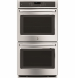 "CK7500SHSS GE Cafe Series 27"" Built-In Double Convection Wall Oven True European Convection (Upper Oven) - Stainless Steel"