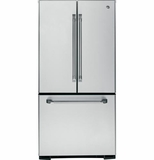 "CNS23SSHSS GE Cafe Series 22.7 Cu. Ft. French-Door 33"" Wide Refrigerator with Internal Dispenser - Stainless Steel"