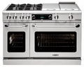 "CSB484GGSSN Capital 48"" Connoisseurian Dual Fuel Self-Clean Range with 4 Sealed Burners + 24"" Thermo Griddle - Natural Gas - Stainless Steel"