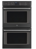 "CT9550EKDS 30"" GE Caf� Series 10.0 cu. ft. Capacity Double Wall Oven with Self-Clean and Proof Mode - Black Slate"