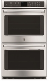 "CT9550SHSS GE Cafe Series 30"" Built-In Double Convection Wall Oven with Wi-Fi Connect - Stainless Steel"