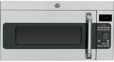 Cvm1750shss Ge Cafe Series 1 7 Cu Ft Over The Range Microwave Oven