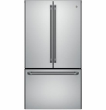CWE23SSHSS GE Cafe Series Energy Star 23.1 Cu. Ft. Counter-Depth French-Door Refrigerator with Internal Water Dispenser - Stainless Steel