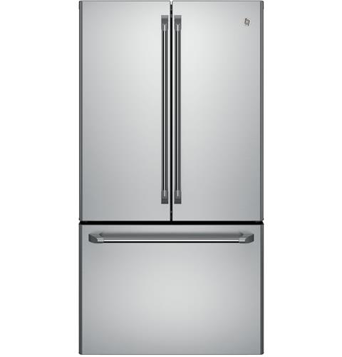 CWE23SSHSS GE Cafe Series Energy Star 23.1 Cu. Ft. Counter Depth French-Door Refrigerator with Internal Water Dispenser - Stainless Steel