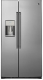 "CZS22MSKSS GE Cafe Series 36"" Counter Depth 22.1 Cu. Ft. Side by Side Refrigerator - Stainless Steel"
