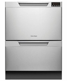 DD24DAX8 Fisher & Paykel Double DishDrawer with SmartDrive Wash Function - Stainless Steel