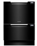 DD24DCTB7 Fisher & Paykel Tall Double DishDrawer with Recessed Handles - Black