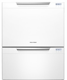 DD24DCTW7 Fisher & Paykel Tall Double DishDrawer with Recessed Handles - White