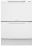 DD24DCW7 Fisher & Paykel Double DishDrawer with Recessed Handles - White