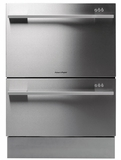 DD24DDFX7 Fisher & Paykel Double DishDrawer with Flat Doors and Straight Handle - Stainless Steel