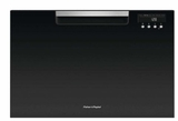 "DD24SAB9 24"" Fisher & Paykel Full Console Single Drawer Dishwasher with Quick Wash and Cutlery Basket - Black"