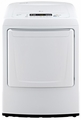 DLE1001W LG 7.3 Cu. Ft. Ultra Large Capacity Front Load Electric Dryer with Front Control Design - White