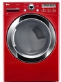 DLEX3250R LG 7.3 Cu. Ft. Large Capacity Electric Steamdryer with Sensor Dry - Wild Cherry Red