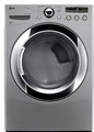 DLEX3250V LG 7.3 Cu. Ft. Large Capacity Electric Steamdryer with Sensor Dry - Graphite Steel