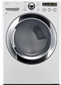 DLEX3250W LG 7.3 Cu. Ft. Large Capacity Electric Steamdryer with Sensor Dry - White
