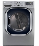 DLEX4270V LG 7.4 Cu. Ft. Ultra Large Capacity Steam Electric Dryer with NFC Tag On Technology - Stainless Steel