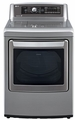 DLEX5680V LG 7.3 Cu. Ft. Ultra Large Capacity High Efficiency Electric Steam Dryer - Graphite Steel