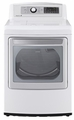 DLEX5680W LG 7.3 Cu. Ft. Large Capacity High Efficiency Electric Steam Dryer - White