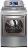 DLEX6001V LG 7.3 cu. ft. Ultra Large Capacity SteamDryer with Smart Thinq Technology (Electric) - Graphite Steel