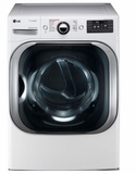 "DLEX8100W 29"" LG 9.0 Cu. Ft. Mega Capacity Electric Steam Dryer with TrueSteam Technology and Sensor Dry - White"