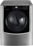 DLEX9000V LG 9.0 cu.ft. MEGA Capacity TurboSteam Dryer w/ On-Door Control Panel - Graphite Steel