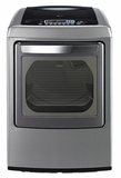 DLEY1201V LG 7.3 cu. ft. Ultra Large Capacity Electric Dryer with Front Control Design and SteamFresh Cycle - Graphite Steel