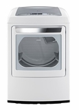 DLEY1201W LG 7.3 cu. ft. Ultra Large Capacity Electric Dryer with Front Control Design and SteamFresh Cycle - White