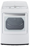 DLEY1701W LG 7.3 Cu. Ft. Ultra Large Capacity Front Contol Top Load Electric Dryer with Steamfresh - White