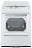 DLEY1701WE LG 7.3 Cu. Ft. Ultra Large Capacity High Efficiency Front Control Steam Dryer with EasyLoad Door - White