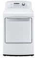 DLG4971W LG 7.3 Cu. Ft. Ultra Large High Efficiency Gas Dryer with Sensor Dry - White