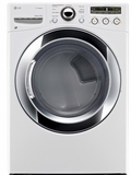 DLGX3251W LG 7.3 Cu. Ft. Large Capacity Steam Dryer with Sensor Dry - White