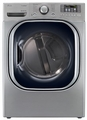 DLGX4071V LG 7.3 Cu. Ft. Ultra Large Capacity Gas Dryer with Dual LED Display - Graphite Steel