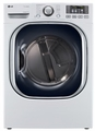DLGX4071W LG 7.3 Cu. Ft. Ultra Large Capacity Gas Dryer with Dual LED Display - White
