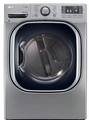 DLGX4271V LG 7.4 Cu. Ft. Ultra Large Capacity Steam Gas Dryer with NFC Tag On Technology - Stainless Steel