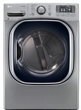 DLGX4271V LG 7.4 Cu. Ft. Ultra Large Capacity Steam Gas Dryer with NFC Tag On Technology - Graphite Steel