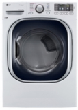 "DLGX4371W LG 27"" 7.4 cu. ft. Ultra Large High Efficiency Gas SteamDryer with SteamSanitary - White"
