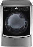 DLGX5001V LG 7.4 cu.ft. Ultra Large Capacity TurboSteam Dryer w/ On-Door Control Panel - Graphite Steel
