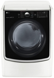 DLGX5001W LG 7.4 cu.ft. Ultra Large Capacity TurboSteam Dryer w/ On-Door Control Panel - White