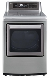 DLGX5781VE LG 7.3 Cu. Ft. Ultra Large Gas SteamDryer with EasyLoad Door - Graphite Steel