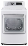 DLGX5781WE LG 7.3 Cu. Ft. Ultra Large Gas SteamDryer with EasyLoad Door - White