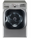 "DLGX8101V 29"" LG 9.0 Cu. Ft. Mega Capacity Gas Steam Dryer with TrueSteam Technology and Sensor Dry - Graphite Steel"
