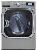 DLGX8501V LG 9.0 Cu. Ft. High-Efficiency Gas SteamDryer with NFC Tag On - Graphite Steel