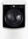 "DLGX9001W LG 29"" 9.0 cu. ft. Gas Dryer with 14 Dry Cycles and 5 Temperature Selections - White"