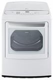DLGY1702W LG 7.3 Cu. Ft. Ultra Large Capacity Front Contol  Gas Dryer with Steamfresh - White